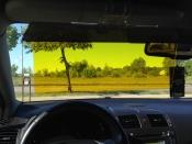 Automobilinis skydelis dienai ir nakčiai