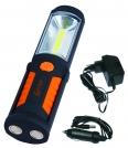 Prožektorius darbui COB(3W)+LED5 (įkraun...